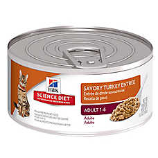 Hill's® Science Diet® Adult Cat Food - Savory Turkey, 24ct Case