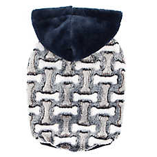 Top Paw® Dog Bone Print Fleece Pet Hoodie