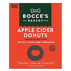 Bocce's Bakery Apple Cider Donuts Dog Treat - Natural, Apples, Honey & Cinnamon