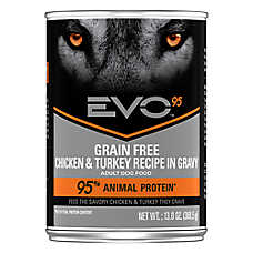 EVO 95 Adult Dog Food - Grain Free, Gluten Free, Chicken & Turkey