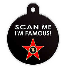 "Petfetch Smart Pet Tag ""Scan Me I'm Famous"""