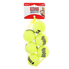 KONG® AirDog® Tennis Ball Set Squeaker Dog Toy - 6 Pack