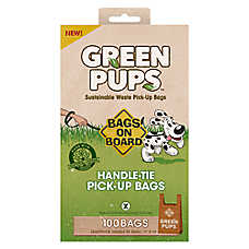 Bags on Board® Green Pups™ Handle Tie Waste Pick Up Bags