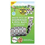 Bags on Board® Blue Diamond Waste Pick Up Bag Dispenser