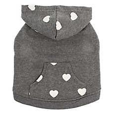 Top Paw® Heart Fleece Pet Hoodie