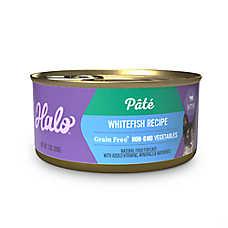 HALO® Kitten Food - Natural, Grain Free, Whitefish Recipe Pate
