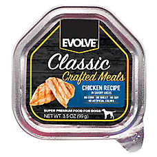 Evolve® Classic Crafted Meals Dog Food - Chicken, 15ct Case