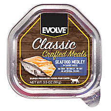 Evolve® Classic Crafted Meals Cat Food - Seafood Medley, 15ct Case
