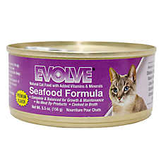 Evolve® Cat Food - Natural, Seafood, 24ct Case