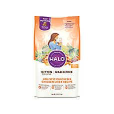 HALO® DreamCoat Kitten Food - Natural, Grain Free, Holistic Chicken & Chicken Liver Recipe