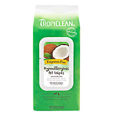 TropiClean® Deodorizing Hypo-allergenic Pet Wipes