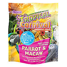 Brown's® Tropical Carnival® Chunky Caribbean Spice Parrot Food