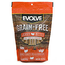 Evolve® Jerky Dog Treat - Turkey, Pea & Berry