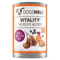 DOGSWELL® Vitality Dog Food - Grain Free, Lamb & Sweet Potato Stew, 12ct Case