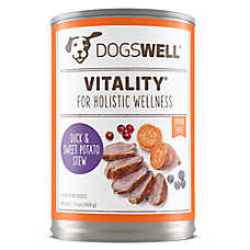 DOGSWELL® Vitality Dog Food - Grain Free, Duck & Sweet Potato Stew