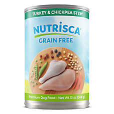 DOGSWELL® Nutrisca Dog Food - Grain Free, Turkey & Chickpea Stew, 12ct Case