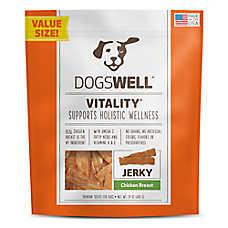 DOGSWELL® Vitality Jerky Dog Treat - Grain Free, Chicken