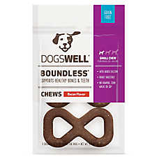 DOGSWELL® Boundless Chews Small Dog Treat - Grain Free, Bacon