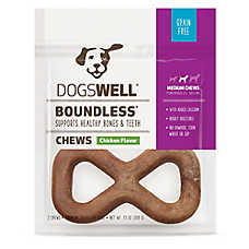 DOGSWELL® Boundless Chews Medium Dog Treat - Grain Free, Chicken