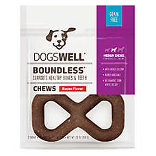 DOGSWELL® Boundless Chews Medium Dog Treat - Grain Free, Bacon