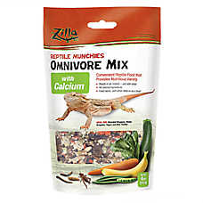 Zilla® Reptile Omnivore with Calcium Munchies