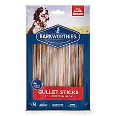 """Barkworthies 6"""" Beef Gullet Sticks Dog Chew - Natural"""
