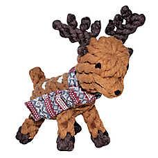 Beaver Canoe Rope Reindeer Dog Toy - Plush