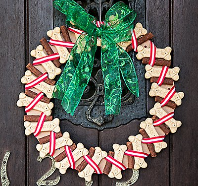 Dog Treat Wreath