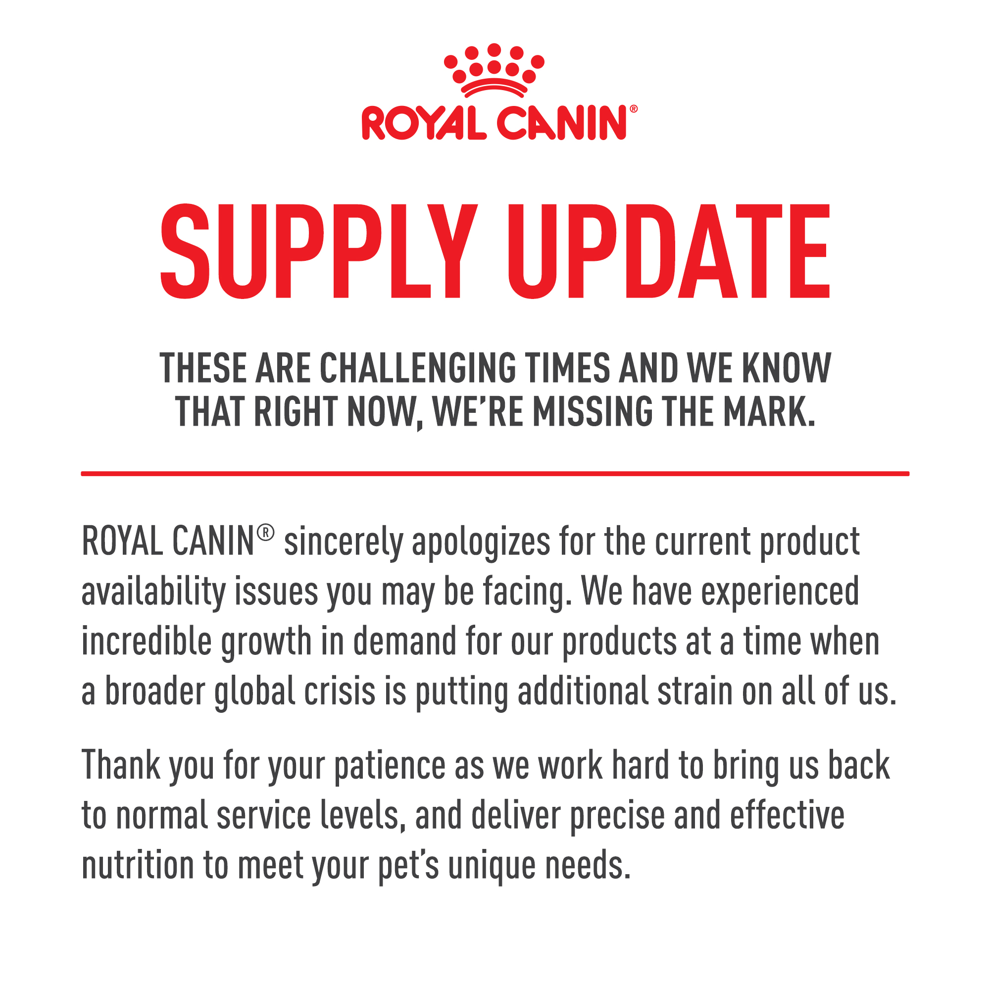 rc supply update