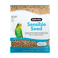 New at PetSmart! ZuPreem Pure Fun & Sensible Seed Bird Food
