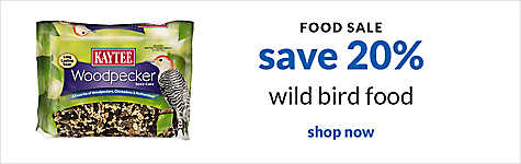food sale - save 20% wild bird food. shop now