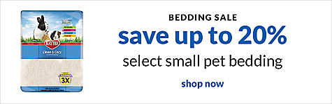 bedding sale - save up to 20% select small pet bedding. shop now