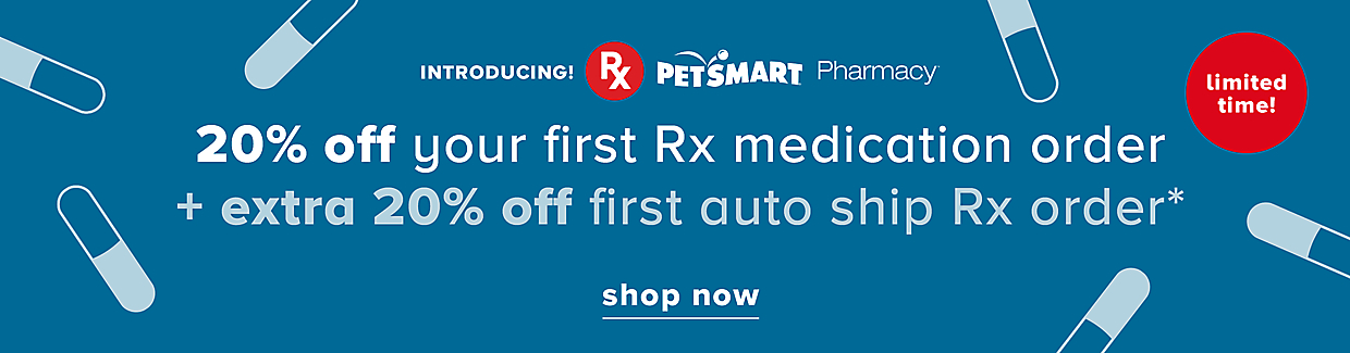 20% off your first Rx medication order + extra 20% off first auto ship Rx order