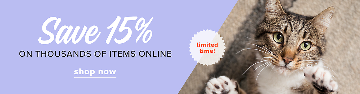 Save 15% on thousands of items