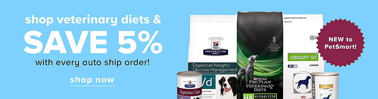 shop veterinary diets & save 5% with every auto ship order