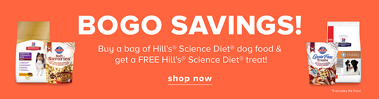Buy a bag of Hill's® Science Diet® dog food & get a FREE Hill's® Science Diet® treat