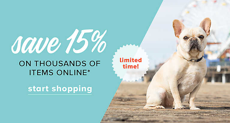 Save 15% off thousands of items online