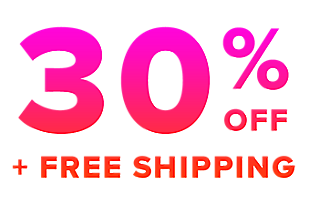 30% off + free shipping