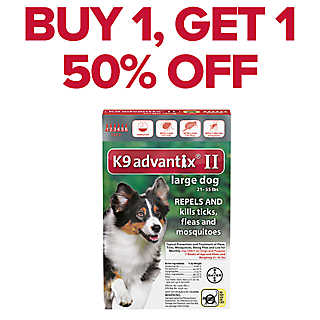 BUY 1, GET 1 50% OFF vet-recommended flea & tick 6 pks.
