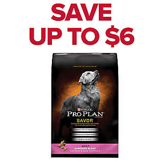 SAVE UP TO $6 Purina® Pro Plan® dog food, 30-37.5 lb. bags