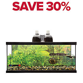 SAVE 30% entire stock Zoo Med™ turtle kits, 20 & 40 gal.
