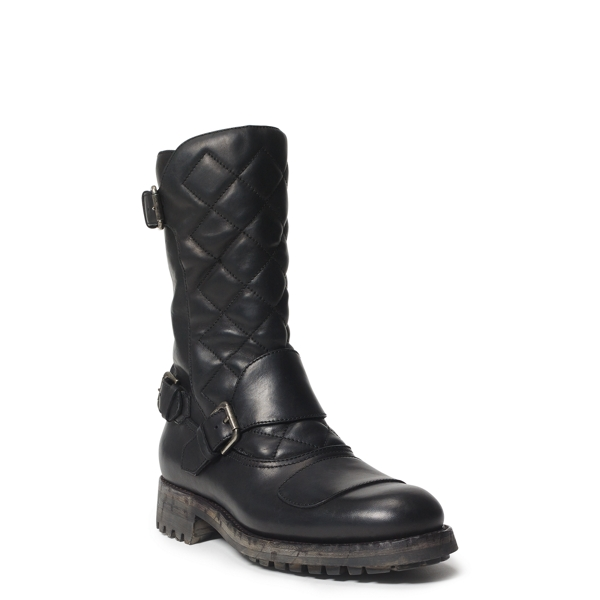 Grover Leather Boot - Boots Shoes - RalphLauren.com
