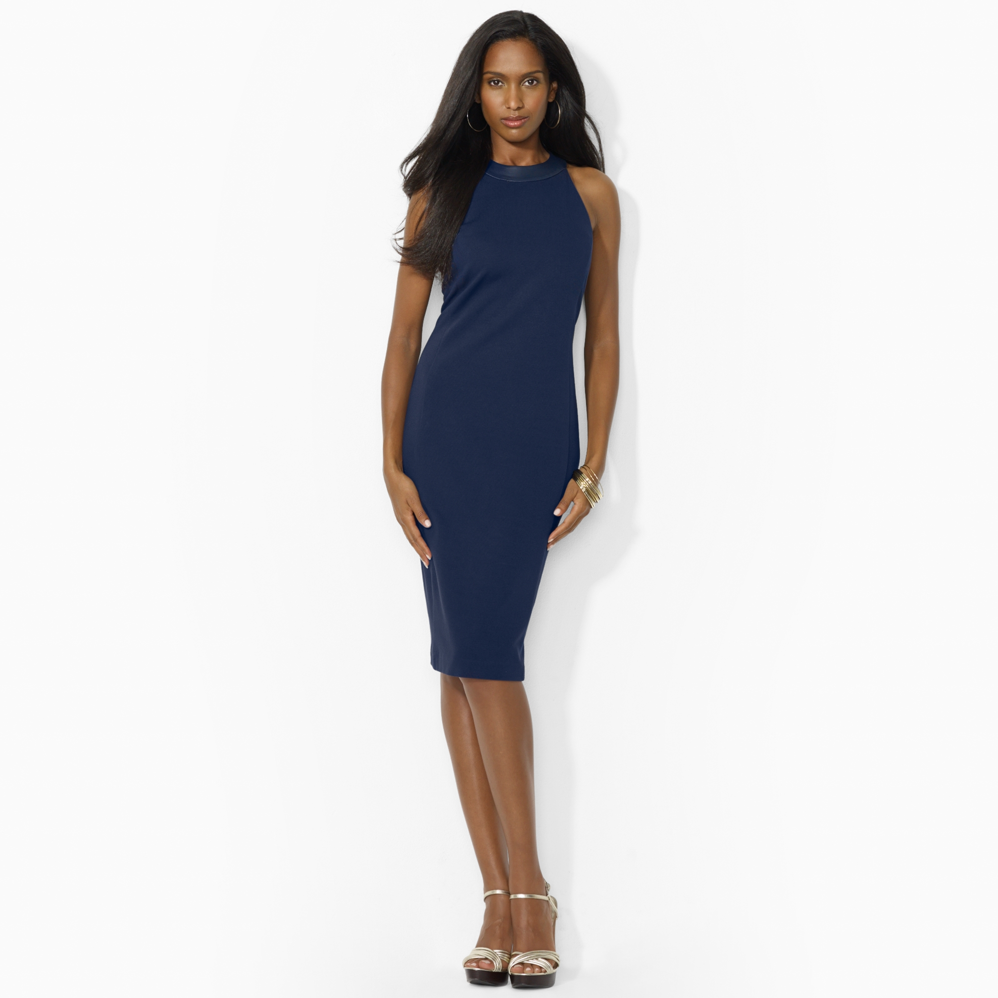 image of ralph lauren navy dress