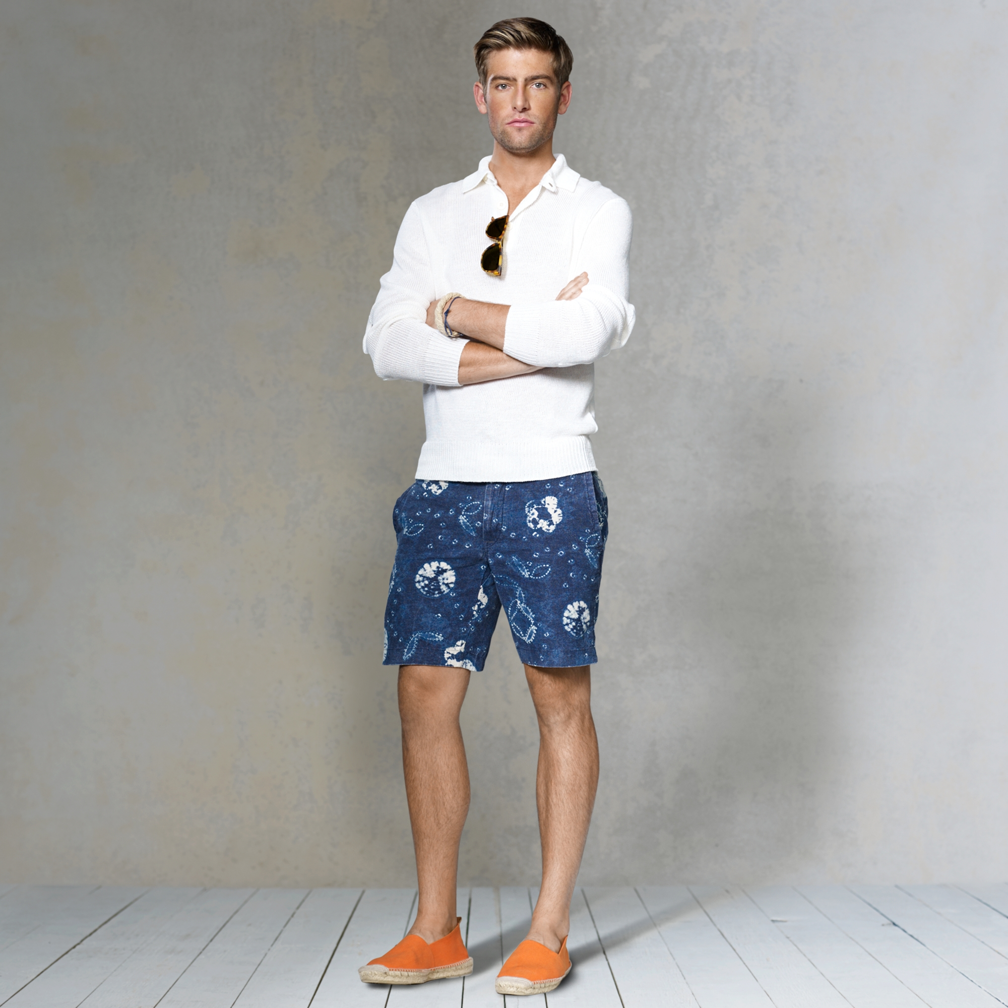 image of ralph lauren shirt and shorts