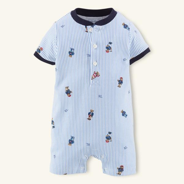 Sale alerts for Layette Bear-Print Cotton Shortall - Covvet