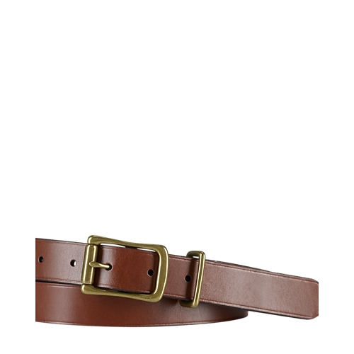 Polo Ralph Lauren Tumbled Leather Belt (Brown)