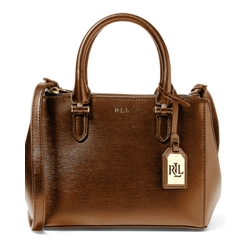 Ralph Lauren Mini Double-Zip Satchel (Black or Lauren Tan)