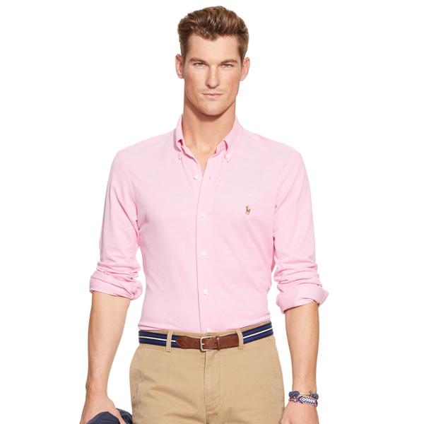 Slim-Fit Knit Oxford Shirt