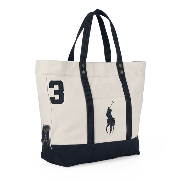 Canvas Big Pony Tote - Totes Bags & Leather Goods - RalphLauren.com