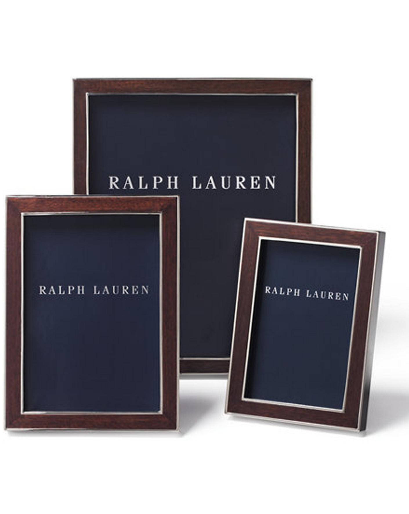 Aiden Frame   Ralph Lauren Home Frames   RalphLauren com. Frames   Silver Plated  amp  Leather   Ralph Lauren Home
